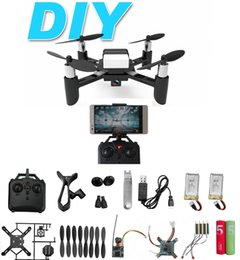 DIY RC Quadcopter Mini Toy Drones with HD Camera WiFi Live Video Mobile Phone Control Helicopter Selfie Packet Drone With HD 720P 2MP Camera