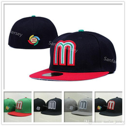 Canada Hot Sale Mexique Baseball Cap Logo de l'équipe de broderie Gorra de beisbol Full Closed Design Mexique Bonnets ajustés pour hommes Femmes Sport Hat cheap cap mexico Offre