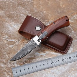 Damascus steel automatic knife 58-60HRC single action side open knives camping outdoor self-defense survival gear edc tools