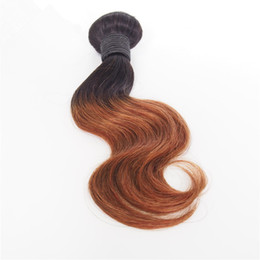 Unprocessed Virgin Human Hair Weave 10inch Hair Ombre Colored Two Tone 1B 27 Hair Extensions Wave Style in Different Ways