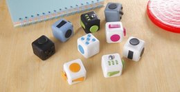 Wholesale Fidget Cube a vinyl desk toy New Fidget Cube anti irritability toy magic cobe Funny colors Christmas gift
