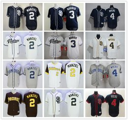 johnny manziel jerseys Promotion Cheap Mens Stitched San Diego Padres # 2 Johnny Manziel Maillots de Baseball # 3 Derek Norris # 4 Wil Myers Blank Blue Grey White Jersey Wholesale