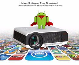 Wholesale Free inch Screen High quality Android Wifi Smart Digital TV Proyector Beamer Led D Projector P Full HD Lumens