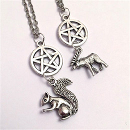 20pcs Moose and SquirrelBest Friends Supernatural Necklaces Supernatural inspired Jewelry Team Free Will Jewelry