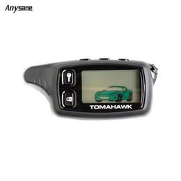 Descuento sistema de alarma a distancia un coche Venta al por mayor- Anysane control remoto inalámbrico rusa tomahawk tw9010 de dos vías sistema de control de alarma de coche LCD control remoto keyfob para la seguridad del vehículo
