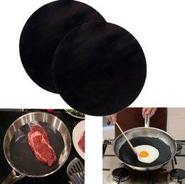 Wholesale Pan Mat Non stick round pan liner sheet Fry Liner Sheet Pad Kitchen Baking Mats cooking baking frying pan liner round cm KKA1170
