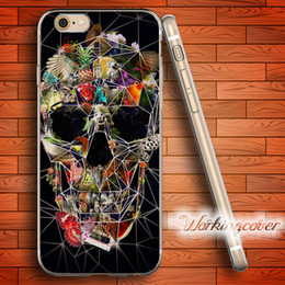 Capa Fragile Skull Flower Soft Clear TPU Case for iPhone 7 6 6S Plus 5S SE 5 5C 4S 4 Case Silicone Cover.