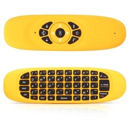 Venta al por mayor- C120 2.4GHz G Air ratón inalámbrico recargable inalámbrico de distancia de 10 metros mosca mouse teclado controlador remoto para Android TV Box Computer desde distancia de vuelo fabricantes