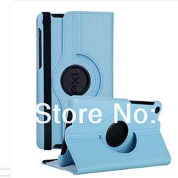 Vente en gros-Pour Google Nexus 7 2nd 2013 PU Housse en cuir Housse 360 Tourner Stand Flip Magnétique Ultra Slim Tablette Smart + film d'écran + stylet à partir de nexus rotation étui en cuir fabricateur