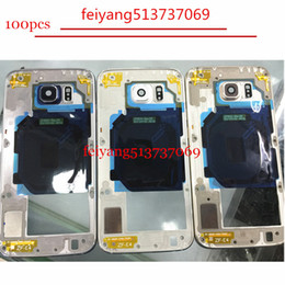 100pcs Top quality For Samsung Galaxy S6 G920 S6 edge G925 LCD Middle Plate Housing Frame Bezel