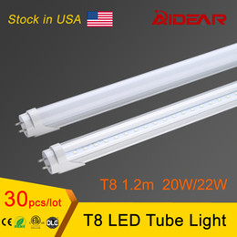 US Stock-Factory wholesale High Bright 1200mm 4ft T8 Led Tube Light 20W Led Fluorescent Tubes Bulbs