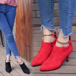 Women Shoes New Women Boots 2017 Fashion Suede Sexy High-heeled Women Boots Normal Size 35-39 High 5CM