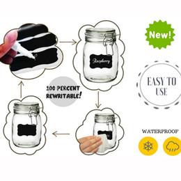 Wholesale 10 papers pieces Waterproof Mason Jar Bottle Stickers Labels Home Kitchen Jars Stickers Chalkboard Lables Tags
