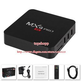 Wholesale Android TV Box MXQ Pro Amlogic S905 Quad Core k bit Smart Mini PC G G Fully Loaded with RII I8 Mini Wireless Keyboard hot
