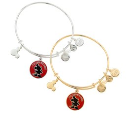 Wholesale new style Alex and Ani It all started with a mouse Bangle Antique gold and silver popular Pure copper bracelet