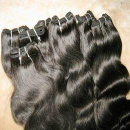 2017 el envío más barato Las tramas brasileñas de la extensión de la onda 100% del cuerpo humano del pelo humano de los productos de pelo de la promoción 9 paquetes / porción ayunan el envío el envío más barato limpiar