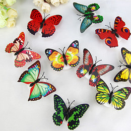 Wholesale Colorful Fiber Optic Butterfly Nightlight 1W LED Butterfly For Wedding Room Night Light Party Decoration