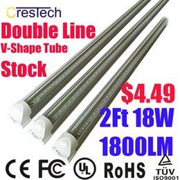 Wholesale Ft V Shape Integration T8 LED Tube AC85 V Imput Double Line Integration LED Tube Cold K