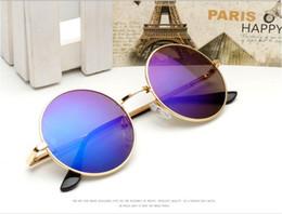 Espejo de cristal clásico en venta-Venta al por mayor - nuevo espejo retro clásico de la vendimia de las pequeñas mujeres del steampunk de las gafas de sol del nuevo John Lennon Sun Glass Oculos de sol Masculino