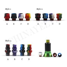 Wholesale Amazing technology epoxy resin drip tip rainbow cloud colored drip tip fit vape electronic cigarette styles in stock