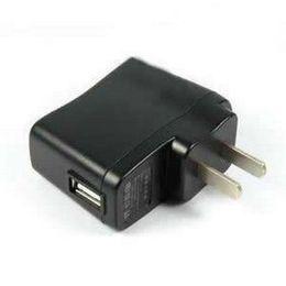 500PCS lot 5.0V 500mA MAX US plug USB charger adapter for Mp3 Mp4 Mp5 fan USB air purifier USB speaker