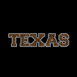 Wholesale Peace Love I Love Texas Iron On Rhinestone Transfer Hot Fix Motif For t-Shirts