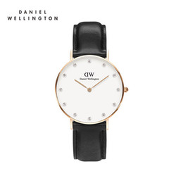 Top luxury brand Daniel ladies hands Wellington watch fashion dw40mm leather rhinestones style black rose gold men watch with gifts relojes