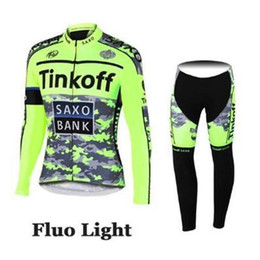 Acheter en ligne Cuissard vente-2015 vente chaude TINKOFF FLEECE jersey à manches courtes avec manches courtes (bavoir) vêtements cyclistes courts avec anti UV respirant