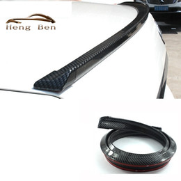 Wholesale HB M Rubber Carbon Fiber Rear Spoiler Wing or Roof Spoiler Wing Trim JDM Style Universal Ducktail Rear Protector Easy Install