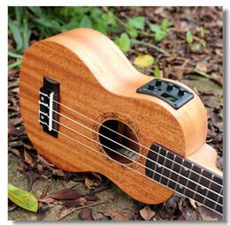 Wholesale Soprano Acoustic Electric Ukulele Inch Guitar Strings Ukelele Guitarra Handcraft Wood White Guitarist Mahogany Plug in Uke
