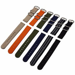 2017 new best two nylon strap black   orange stripes Beidou belt uniforms sports watch NATO canvas solid color cattle ring free shipping