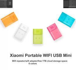 100% Original Xiaomi WiFi Portable Mini USB Wireless Router Repeator WiFi USB Adapter with 1TB Free Cloud Storage