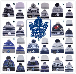 Wholesale NEW HOT Sport KNIT NHL TORONTO MAPLE LEAFSIce Hockey Club Beanies Team Hat Winter Caps Popular Beanie Fix Cheap Gift