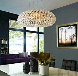 Wholesale New Zeus sweat Crystal chandeliers Pendant Lamp CM CM CM Acrylic Ball LED Pendent Lights AC V V Fedex