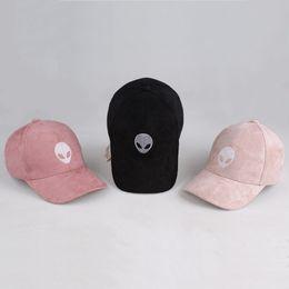 Wholesale Drop Shipping Aliens Outstar Saucer Space E T UFO Fans Black Fabric Baseball Cap Hat for Kid Children Teenage Adult Men Women