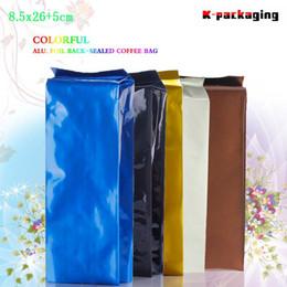 5 pcs 8.5x26cm 250g High Quality Food Grade Foil Chinese Tea Packaging Bags   Moisture-proof foil Tea Pouch