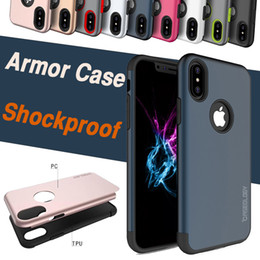 For iPhone X Mars Armor Case Hybrid TPU+PC Ultra Thin Slim Rugged Shockproof Anti-Drop Protection Hard Back Cover For iPhone 8 7 Plus 6 6S