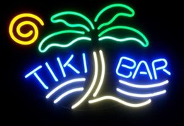 Tiki Bar Palm Tree Real Glass Neon Sign Neon Lamp Beer Bar
