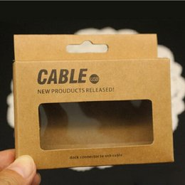 Kraft Paper Retail Packaging Packages Box For 1 M Charging USB Cable For Smart Phone,Mobile phone 8 pin Charger cable Boxes 300pcs lot
