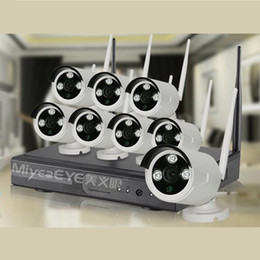 MiyeaEye 8ch nvr cctv system,960P HD Wifi ip camera+8ch 2.4G wireless NVR.WiFi NVR Kits with or w o network workable.