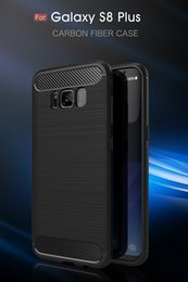 For S8 s8plus Silicon Slim Rugged Armor Case For Samsung Galaxy S8 S8 Plus Hybrid TPU Carbon Fiber Phone Back Cover