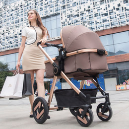 Baby stroller Aluminum alloy shock proof four wheel barrow Bearing 15kg The function can be two-way, sitting and lying, folded car, sleeping