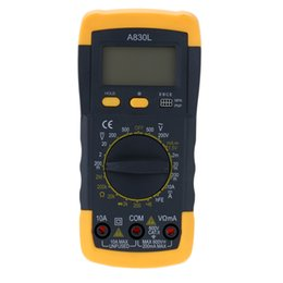 Wholesale A830L Mini Digital Multimeter DMM Voltmeter Ammeter Ohmmeter hFE Tester with Date Hold LCD Backlight Diode and Continuity Test E0461