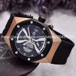 Promotion mens multi fonction 2017 Nouvelle entreprise de luxe distingué mode classique d'importation précise multi-fonction de quartz calendrier imperméable bracelet en caoutchouc Mens Watch