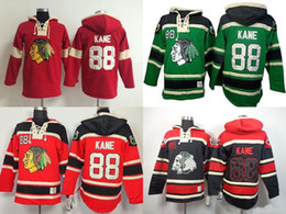Wholesale 2016 New Best quality Chicago Blackhawks 88 Kane Lace Rosso LaceUp Maglie Jerseys Red Black Ice Hockey Hoodies