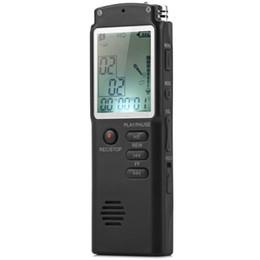 Mp3 mémoire lecteur 1gb en Ligne-Enregistreur vocal numérique 2 en 1 / lecteur MP3 Mémoire 8 Go avec écran LCD numérique Enregistreur vocal / audio numérique avec microphone