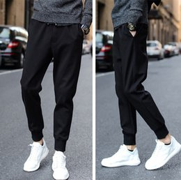 Wholesale 2016 Korean Leisure Time Sports Haren Pants Man Come To A Stop Self cultivation Motion Wei Spring And Autumn Season Trouse Cashmere