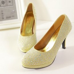 Wholesale Nouveau Chaussures De Mariage Chaussures Jolie Chaussures Talons Femmes Robe De Pompes Rouge Jaune Blanc TZ0467