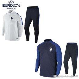 Купить Онлайн Франция человек-Лучшие качества 2017 франция футбольные куртки форма спортивной одежды 16 17 Мужчины тренировочный костюм футбольные спортивные костюмы куртки