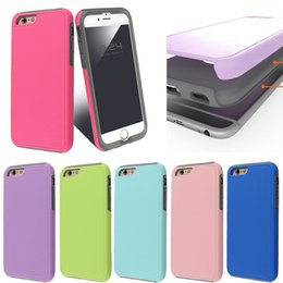 Hybrid 2 in 1 Oil Coating Protective phone case for iphone 7 6 6s plus Durable Colorful Phone Cases wtih a Streamlined Fit